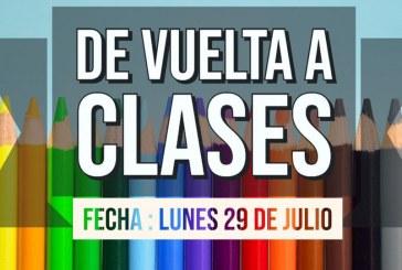 DE VUELTA A CLASES