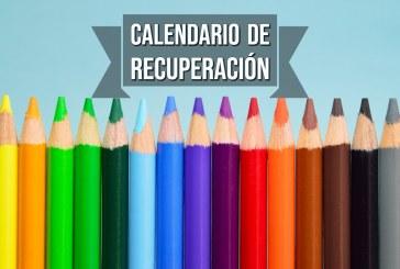 CALENDARIO DE RECUPERACIÓN