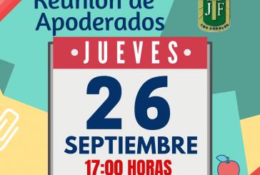RECORDATORIO PRÓXIMA REUNIÓN DE APODERADOS