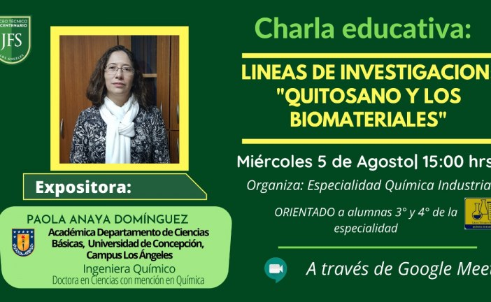 """Líneas de Investigación con énfasis en """"Quitosanos y Los Biomateriales"""""""
