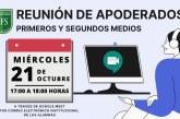 Reunión de Apoderados Virtual para PRIMERO Y SEGUNDO MEDIO,