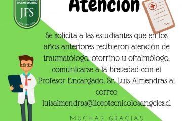 ATENCIONES MÉDICAS JUNAEB